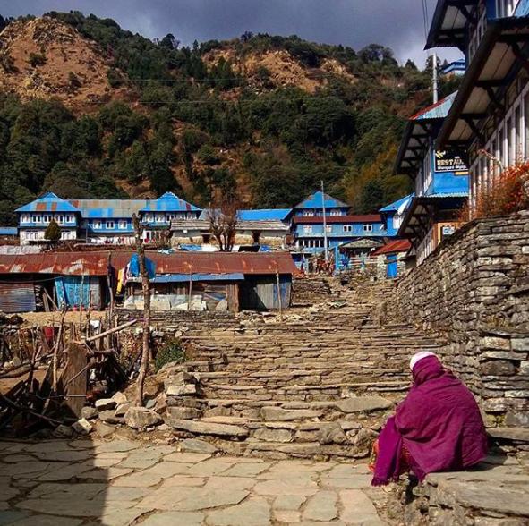El pueblo de Ghorepani Trekking al campo base del annapurna