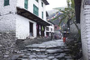 Senderismo en Nepal: poblado