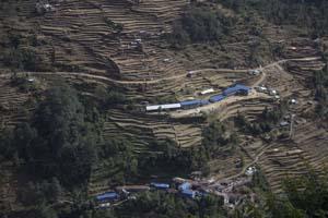 Trekking Campo Base Annapurna: Campos de arroz en nepal
