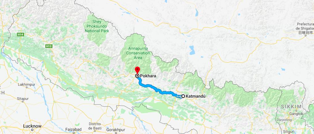 Que ver en Pokhara: llegar de Katmandú a Pokhara