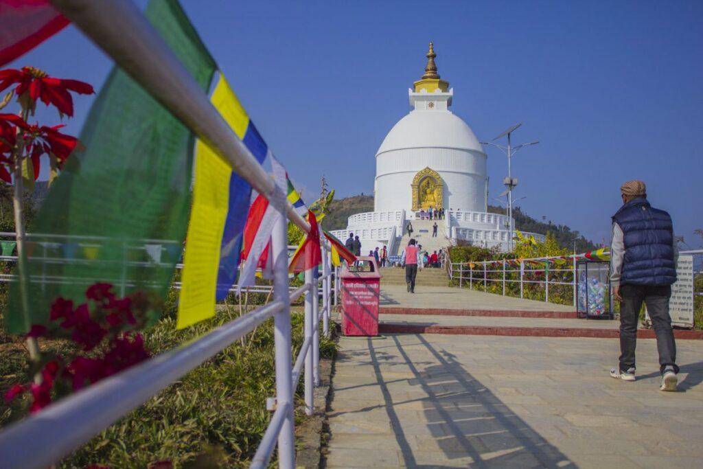 Que ver en Pokhara: pagoda paz mundial