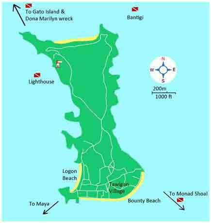 mapa malapascua