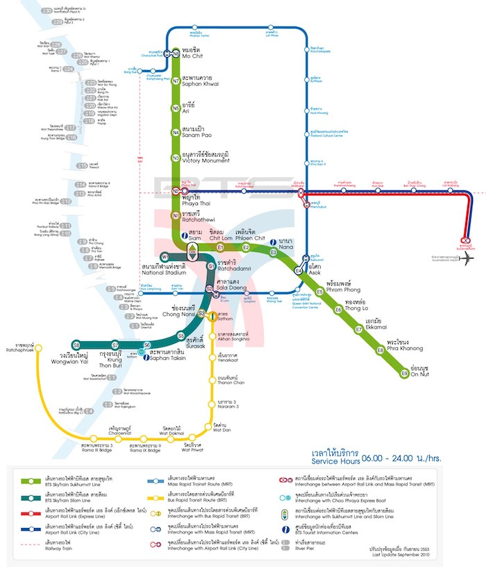 Mapa transporte Bangkok