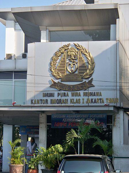 OFICINA inmigración Indonesia