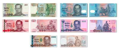 billetes-en-tailandia