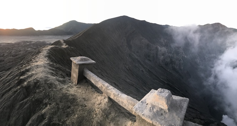 crater volcán bromo