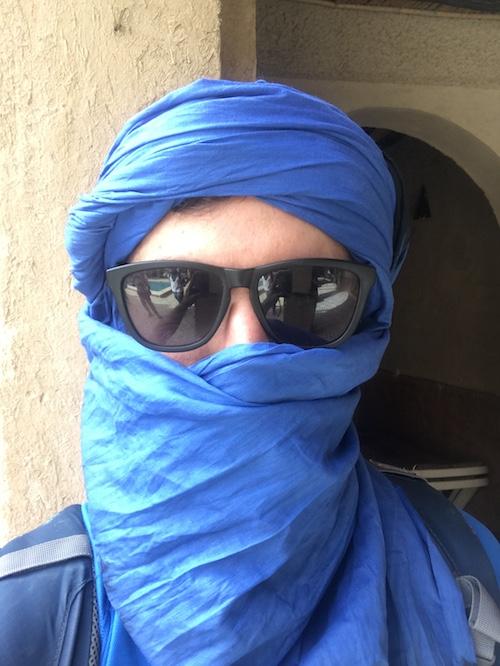 Pañuelo bereber para el desierto de merzouga