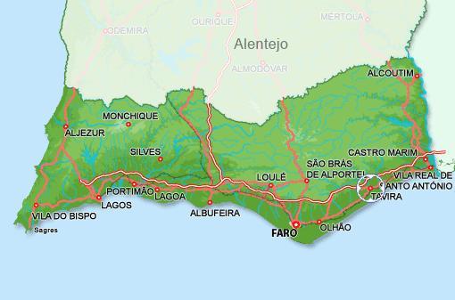 isla de tavira mapa