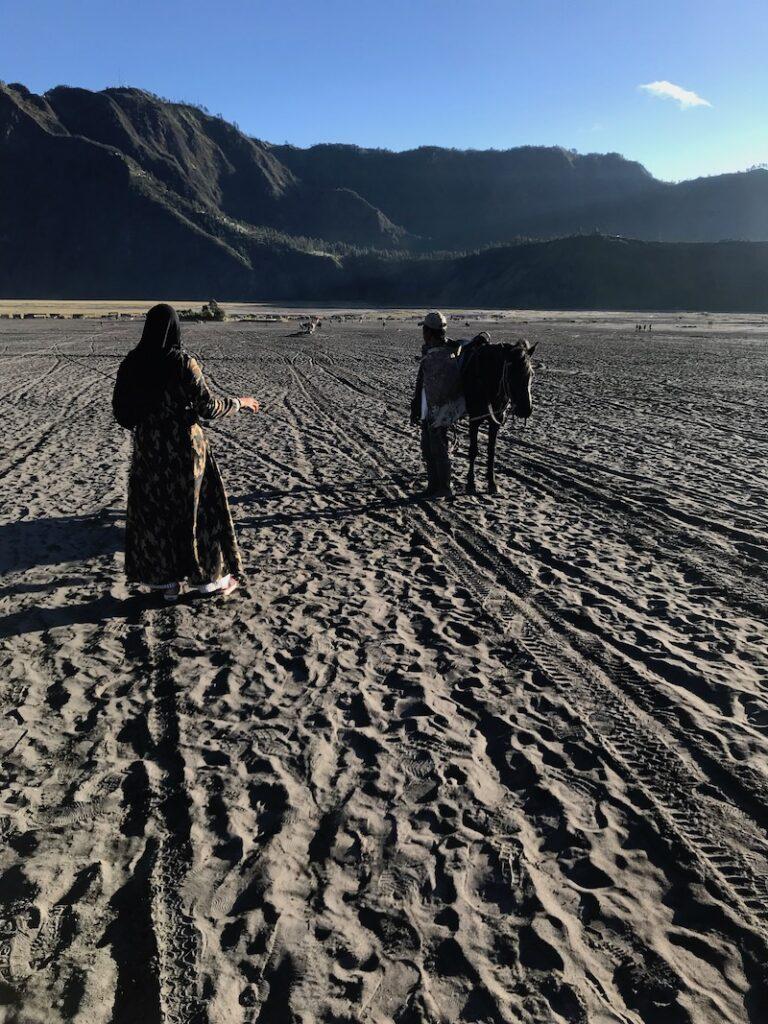 mar de arena en bromo