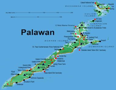 palawan-mapa